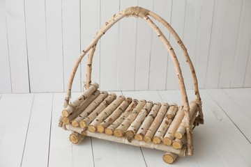 basket of birch. props for newborn photography