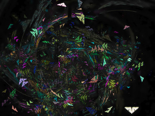 abstract fractal digital background beautiful design