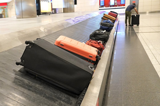 Baggage claim in a airport