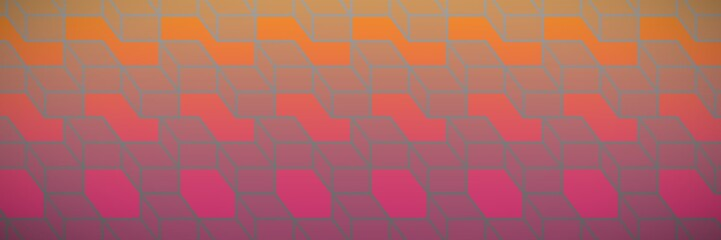 Composite image of colorful geometric squares
