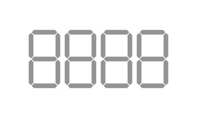 Digital price tag vector template digit numbers