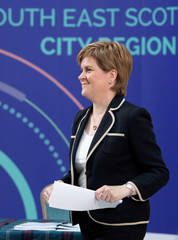 UK PM May meets Scotland's Sturgeon