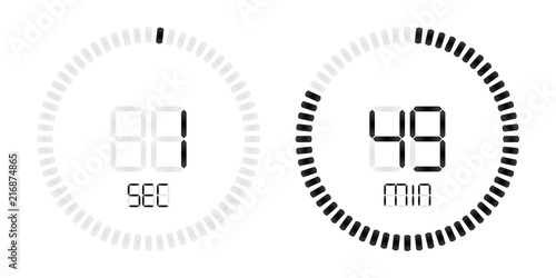 stopwatch digital second minute countdown timer stock image and
