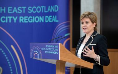 UK PM May meets Scotland's Sturgeon