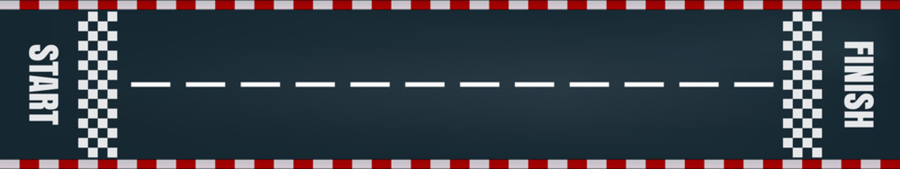 Start finish racing road track vector background