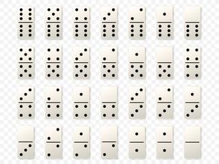 Dominoes or domino tiles white vector mockups