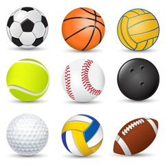 Sport balls collection illustration
