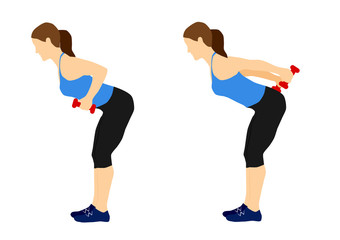 Fitness arm and back exercises workout