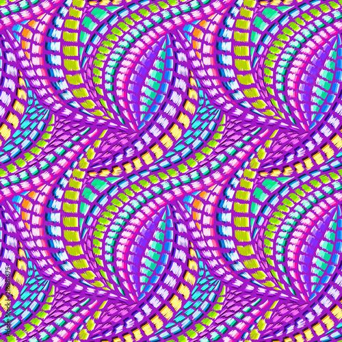 Fabric Design On Cloth | Boho Tie Dye Pattern Native Textile Design Ikat Fabric Effect