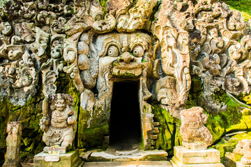 Main temple of the a balinese temple Goa Gajah, Elephant Cave in Bali, Unesco in Indonesia