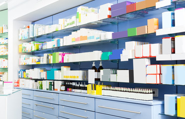 Image of the shelves with medicines