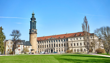 Castle and Bastille of Weimar in East-Germany