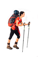Woman with mountain equipment