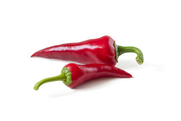 Two hot chili peppers