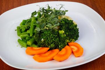 Appetizing steamed vegetables