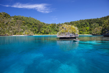 Gorgeous Tropical Lagoon in Raja Ampat