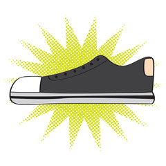 Isolated comic shoe icon