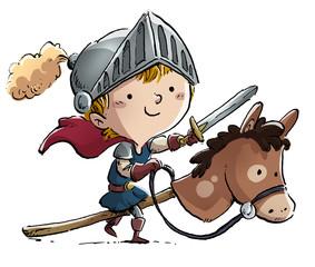 niño caballero con caballo