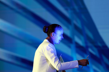Marina Silva, a candidate for the presidency of the Republic of Brazil, of the Brazilian Sustainability Network Party (REDE), attends the GovTech seminar in Sao Paulo