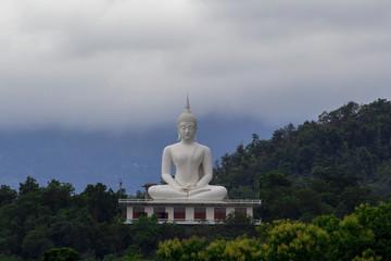 Image of big white buddha in tak thailand