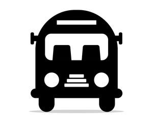 black silhouette bus school image vector icon logo