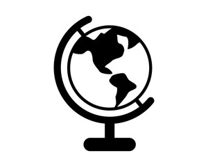 circle globe planet earth world image vector icon logo