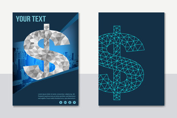 A4 business finance concept design for brochure banner poster report cover background