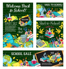 School sale special offer poster of student items