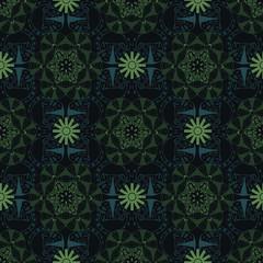 Asian, flower like seamless pattern