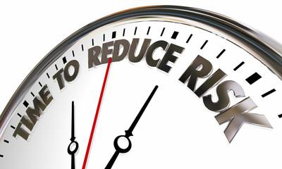 Time to Reduce Lisk Liability Mitigation Clock 3d Illustration