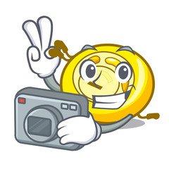 Photographer CD player mascot cartoon
