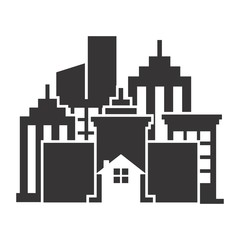 Building Logo. Tower Icon. Architecture symbol. Vector eps 08.