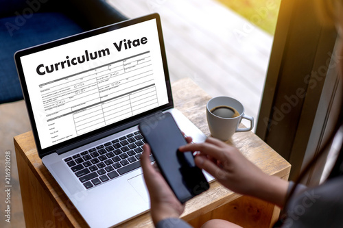 Cv Curriculum Vitae Job Interview Concept With Business Cv Resume