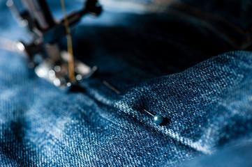 sewing denim jeans