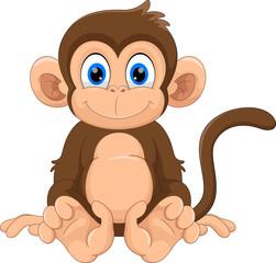 Photo sur Plexiglas Magie Cute monkey cartoon