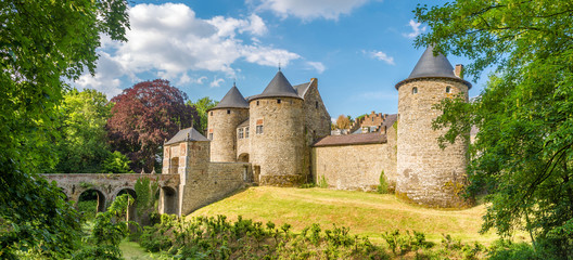 Panoramic view at the Castle of Corroy le Chateau in the province of Namur - Belgium