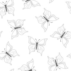 Background with black butterflies