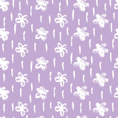 Fototapete - Vector floral pattern in doodle style