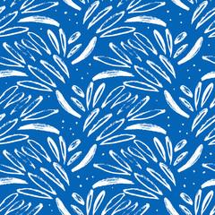 Fototapete - Hand drawn abstract seamless pattern