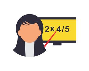 teacher woman teach school college study academic image vector icon logo
