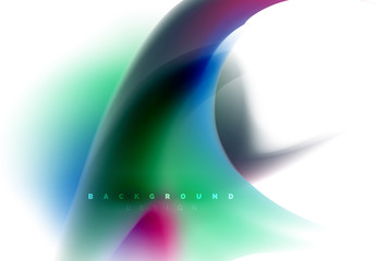Holographic fluid colors flow, colorful liquid mixing colours motion concept