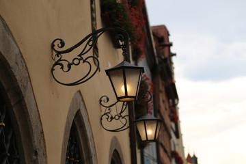 Street light / Vintage street lamp close-up Fotomurales