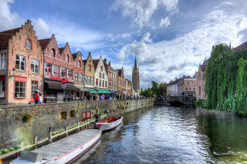 Brugge canals and medieval architecture, Belgium