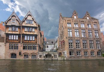 Rozenhoedkaai canal, Bruges, Belgium