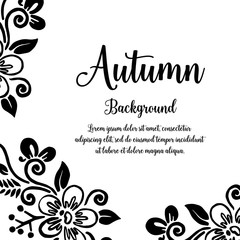 Autumn card with frame flower design vector illustration