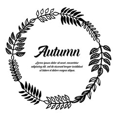 Collection of autumn card flower design vector illustration