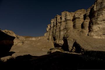 Printed kitchen splashbacks Desert Judean desert at night