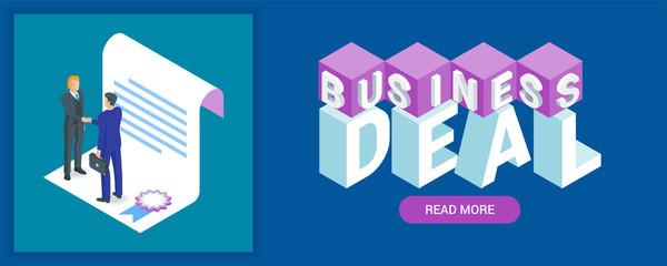 Business deal banner