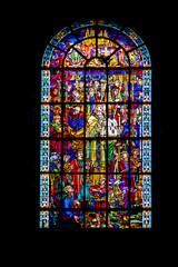 Verdun. Vitrail de la cathédrale Notre dame . Lorraine. Meuse. Grand Est