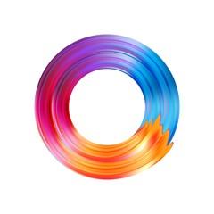 Color brushstroke oil or acrylic paint design element. Vector illustration